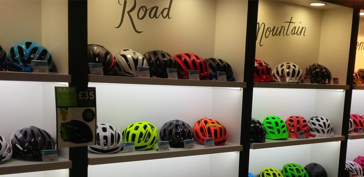 New lighting at Rutland Cycling.