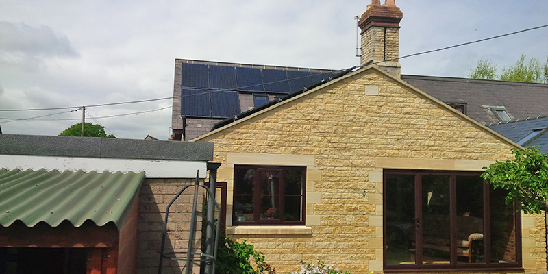 Recent solar installation in Rutland
