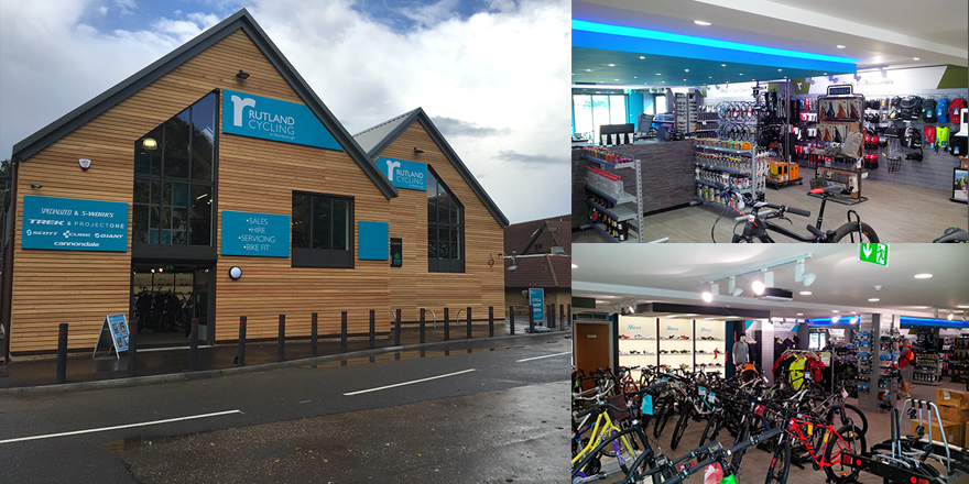 Completion at Rutland Cycling's new store at Ferry Meadows, Peterborough.