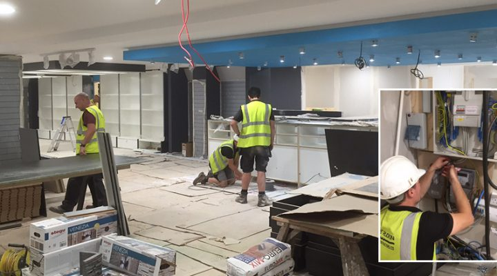 Progressing with the installation ate Rutland Cycling's new store at Ferry Meadows, Peterborough.
