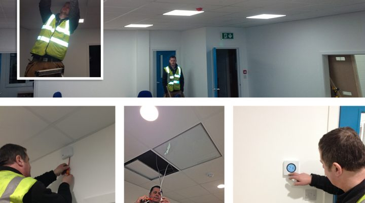 Infra Red heating and LED lighting for RCS Logistics