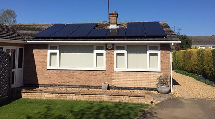 New solar installation in ketton