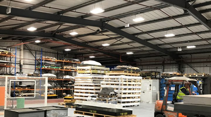 new led lighting scheme to local factory