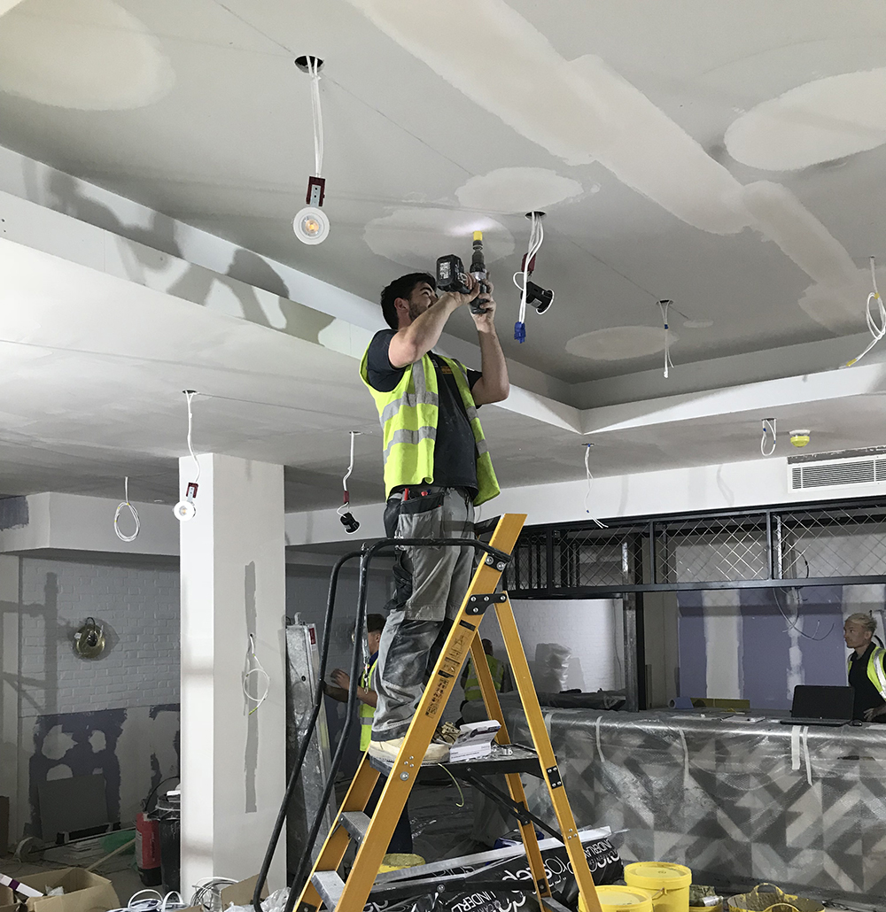 Lighting And Power To Hotel Bar And Front Of House Refurb