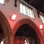 Infra red heating installation in Rutland church - Steve Rudkin Electrical Contractors Ltd