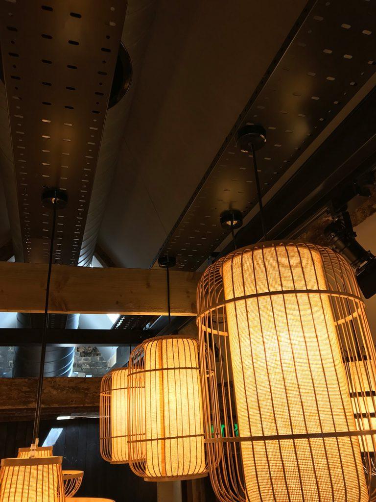 Lighting installation at local restaurant