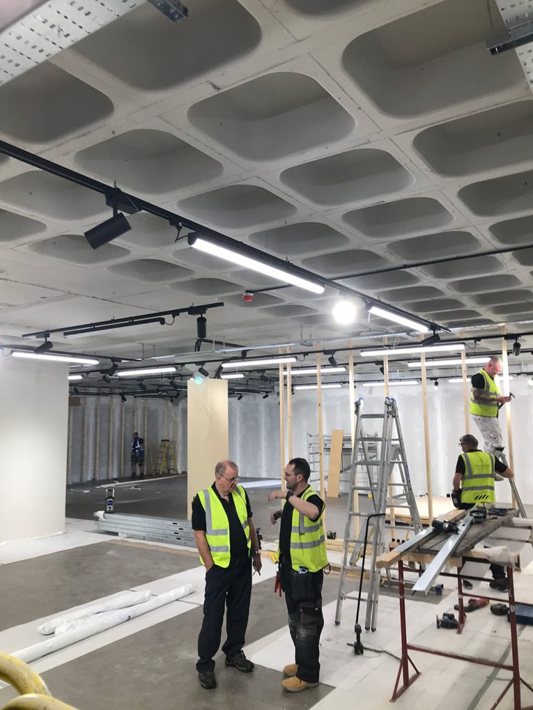 Electrical installations near completion at bike shops