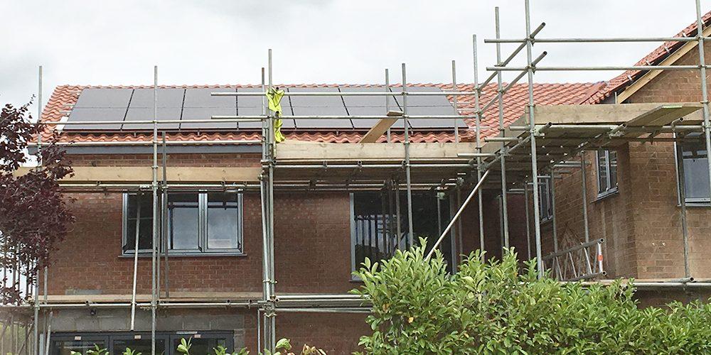 Steve Rudkin Solar Install at Braceborough 2018