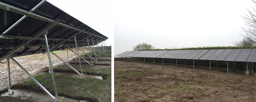 The completion of the solar ground mount job.