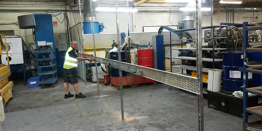 Continuing industrial work at Cannock west midlands