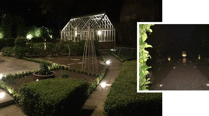 Luxury garden lighting installed