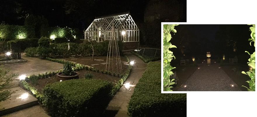 Luxury garden lighting installed