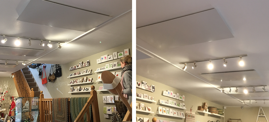 New infra-red heating in Stamford shop