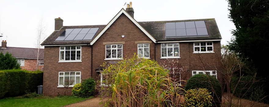 Completed inroof solar mounted system in stamford.