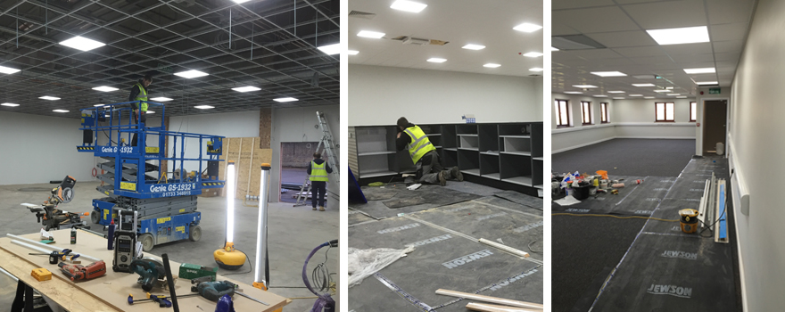 Nearly completed jewsons new offices