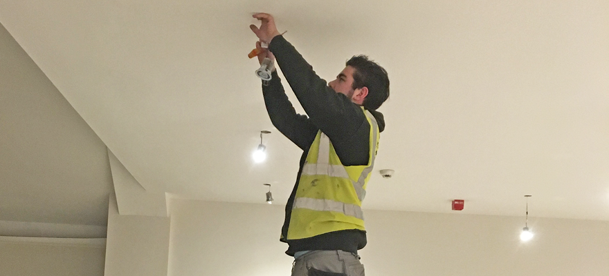 Electrical works in a Corby hotel