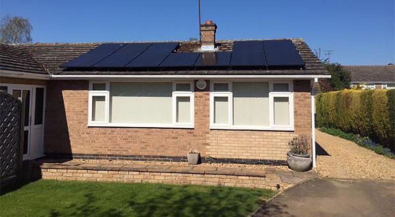 New solar installation in ketton