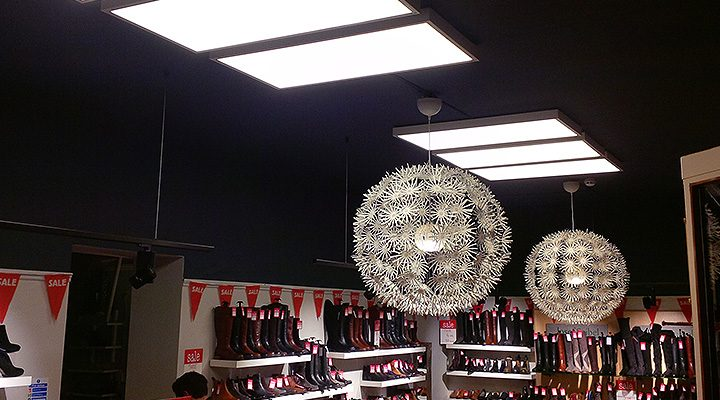 LED lighting in local Stamford shop