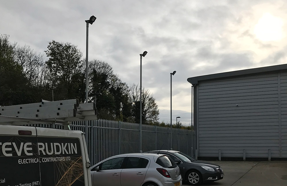 new builders merchants car park lighting scheme