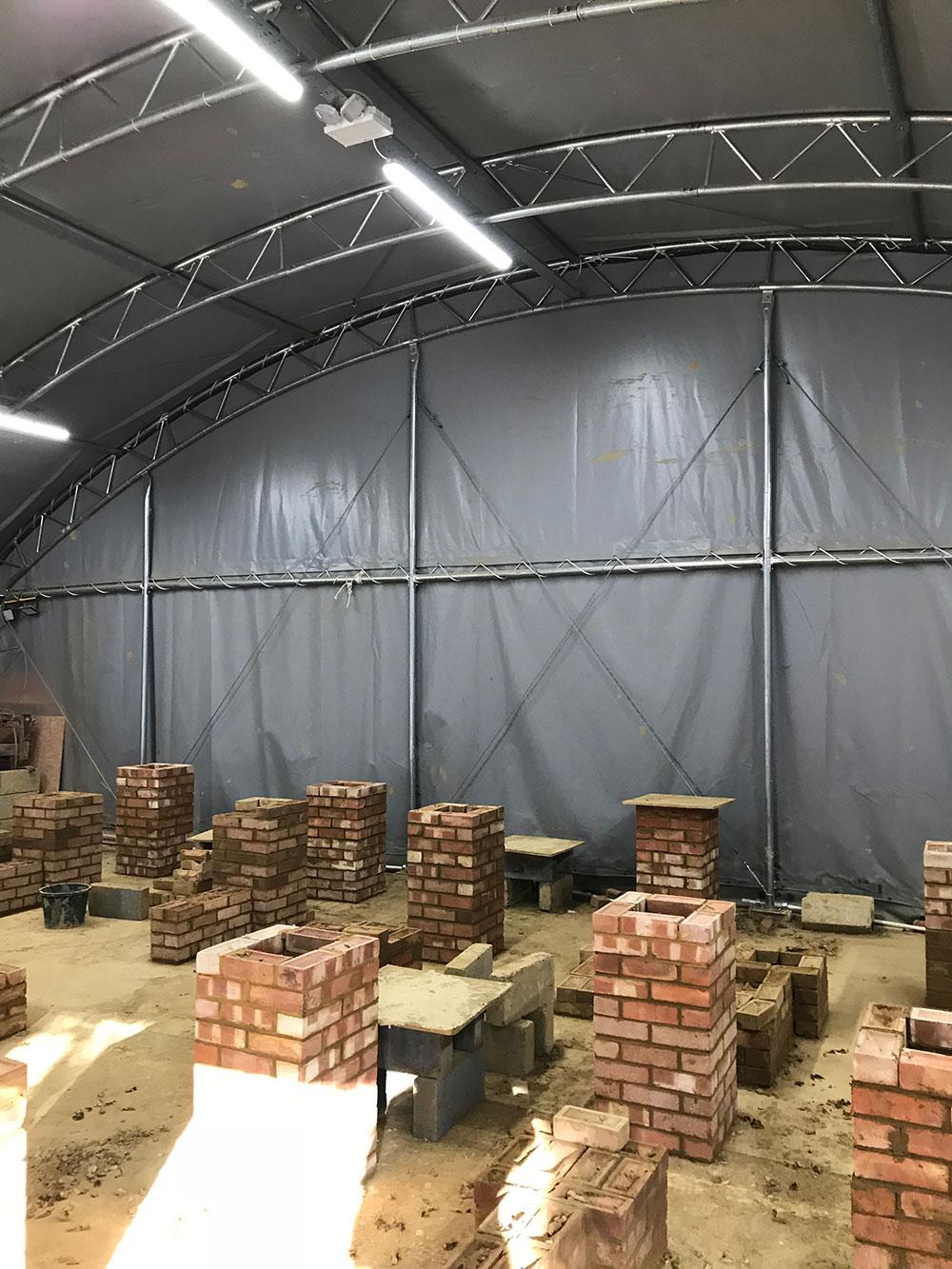 Lighting in bricklayers tent - Steve Rudkin Electrical Contractors Ltd